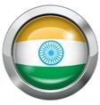 india flag metal button vector image vector image
