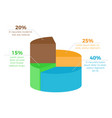 infographic with percentage on vector image vector image