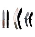 knives set4 vector image