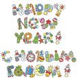 lettering design of happy new year greetings vector image
