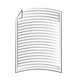 lined sheet of paper icon image vector image