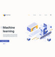 machine ai learning process cyber technology vector image vector image