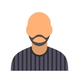 Man with beard avatar icon vector image