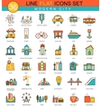 modern city flat line icon set Modern vector image