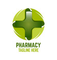 modern cross pharmacy logo vector image vector image