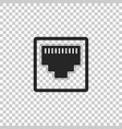 network port - cable socket icon lan port icon vector image