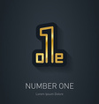 Number one sign Corporate Gold logo design vector image