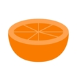 Orange slice vector image vector image
