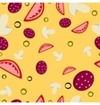 Pattern of pizza vector image