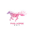 pixel horse logo vector image vector image