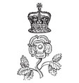 rose and crown badge is a distinctive mark worn vector image vector image
