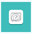 round button for dashboard device speed test vector image