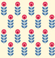 scandinavian flowers seamless pattern vector image