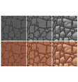 seamless stone texture 3 step drawing brown and vector image vector image