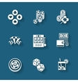 Set of black casino icons vector image vector image