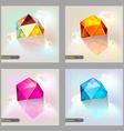 Set of polygonal geometric figures Brochure vector image vector image