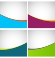 Set of simple stylish backgrounds eps vector image vector image