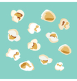 set popcorn flat design vector image
