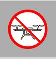 stop air drone icon vector image vector image
