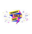 summer sale 3d sale banner with text sale vector image vector image