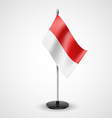 Table flag of Indonesia vector image vector image