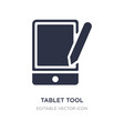 tablet tool icon on white background simple