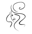 template logo for beauty products abstract girl vector image vector image
