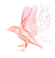 thin lines bird abstract design vector image