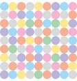 tile pattern with pastel colorful polka dots vector image vector image