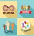 tolerance logo set flat style vector image