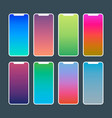trendy gradient wallpapers vibrant swatches for vector image vector image
