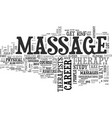 what you need to know to get into massage therapy vector image vector image