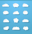 white paper cut clouds collection vector image vector image