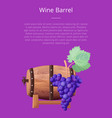 wine barrel text and title vector image vector image