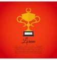 Winner award cup vector image
