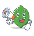 with megaphone lime character cartoon style vector image vector image