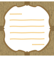 Wood pattern card2 vector image vector image