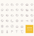 Weather Outline Icons for web and mobile apps vector image
