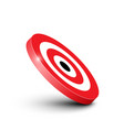 3d red and white bullseye target icon isolated on vector image vector image