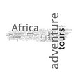 africa adventure tours vector image vector image