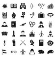 aggression icons set simple style vector image vector image