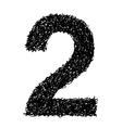 alphabet 2 vector image