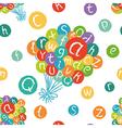 Alphabet balloons pattern vector image vector image