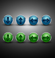 arrow button in two colors vector image