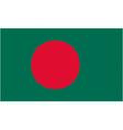 bangladeshi flag vector image vector image