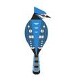 blue jay bird icon in flat design vector image