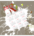 calendar for 2012 on abstract background vector image vector image