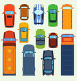 car vehicle top view set icon transport vector image vector image