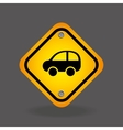 car yellow road street sign vector image vector image