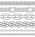 chain borders vector image vector image